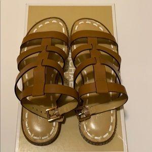 Micheal Kors Fallon Flat Sandals- with box